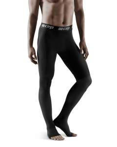 Black Recovery pro tights for men for regeneration after work out
