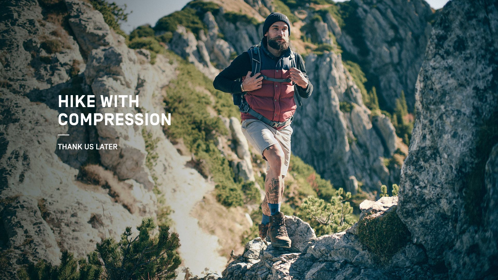 hike with compression